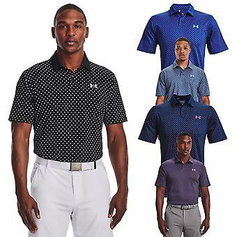 Under Armour Herren 2021 Performance 4-Wege Stretch Wicking gedruckt Golf Polo Shirt