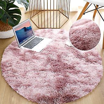 Anti-slip Fluffy Large Area Rug Thick Round Plush Carpet