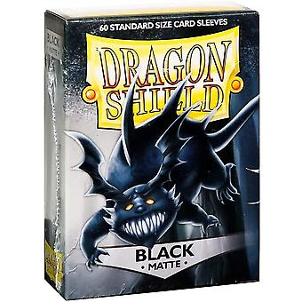 Dragon Shield Standard Matte Black Card Sleeves - 60 Sleeves