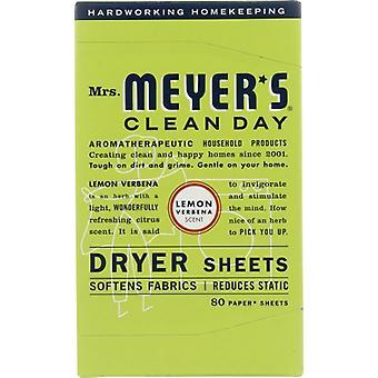 Rouva Meyers Clean Day Dryer Sheet Lemon Verbena, kotelo 12 X 80 PC