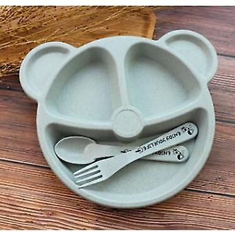 Baby Bear Plate Fork, Spoon Dinnerware Set