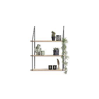 LIFA LIVING Estante de pared vintage hecho de madera y metal, estantes flotantes decorativos para cocina, sala de estar, dormitorio