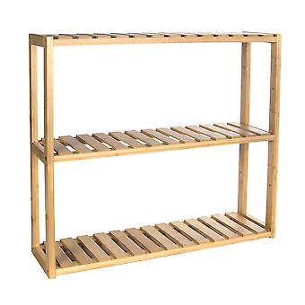 3 Tier Bamboo Shelves - Natural | M&W