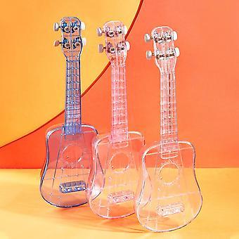21 Inches Ukulele Portable Transparent Mini Guitar Ukelele For Beginner 4 Strings Music Development Musical Instrument Gifts