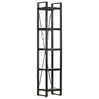 vidaXL bibliothèque 5 compartiments noir 40x30x180 cm bois massif de mangue
