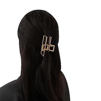Metall Mode Kreative Haarkrallen Clips Rutschfeste Haarfang Barrette (rechteckige Haarnadel)