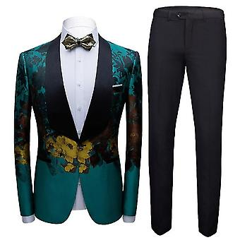 Men's 2-piece  Slim Fit Jacket  Formal Suit(S)