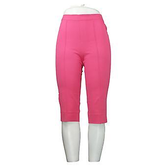 Isaac Mizrahi Live! Damen Hose Pedal Pushers Pintucks Pink A377472