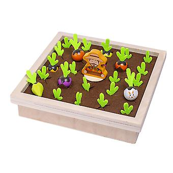 Creative simulation vegetable memory board game farm carrot pulling board game early education toy gift for kids children