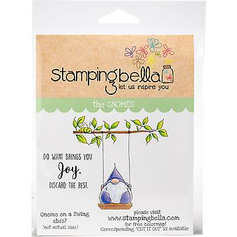 Stamping Bella Cling Stamps - Gnome On A Swing