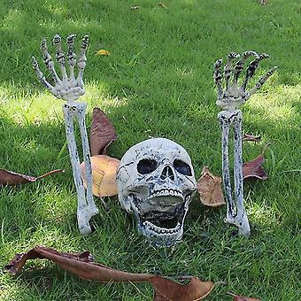 Halloween Dekoration Fake Skelet Hoved Hænder Sethalloween Party 3pcs