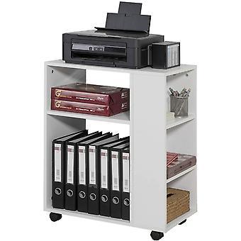 SoBuy FBT68-W, End Table,3 Tiers Storage Shelf on Wheels