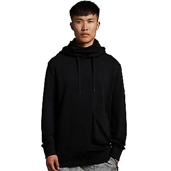 Lyle & Scott Casuals Face Covered Hoodie - Jet Black