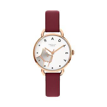 Radley Wood Street Ry2874 White Dial Leather Strap Ladies Watch