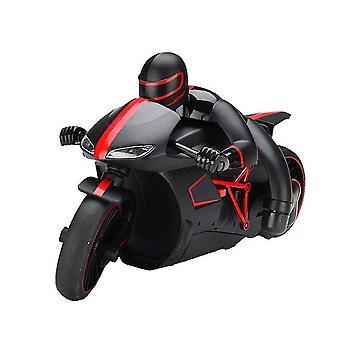 mini rc høyhastighets drift motorsykkel modell med lette barn robot motorsykkel leker for gaver (rød)