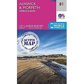 Alnwick & Morpeth (OS Landranger Actief)