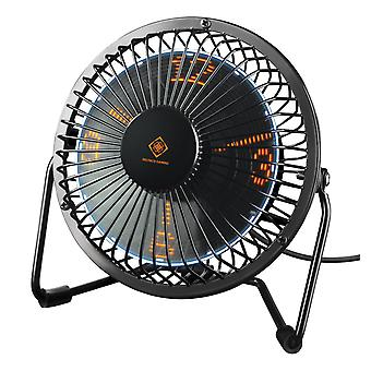 DELTACO GAMING USB table fan with clock, hours/minutes/seconds, sway