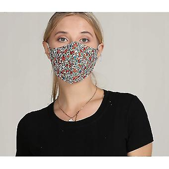 Dust masks the adult mask fabric is washable  reusable and adjustable with a filter bag 10pac  green flower
