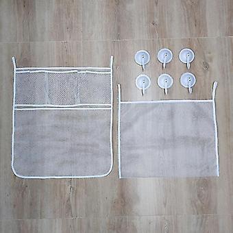 Vauvan kylpylelujen säilytysjärjestäjän verkko vahvoilla imukupilla (verkko)(2kpl Laukku)
