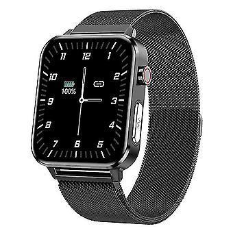 Ecg smart ur e86 mænd ip68 vandtæt 1.7inch støtte ilt kropstemperatur i blodet til Android