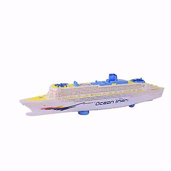 Kids Colorful Ocean Liner Ship Boa T Electric Flashing Led Light Sound Toy