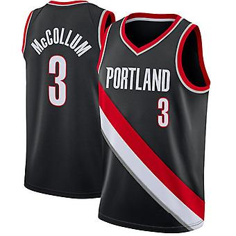 Men's Basketball Jersey #3 Mccollum Portland Blazers #00 Anthony Basketball Jerseys Sports T-shirt Size S-xxl