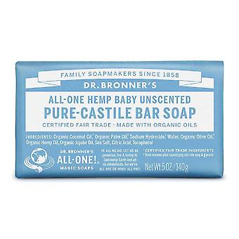 Dr. bronner's organic pure castile baby-unscented bar soap, 5 oz