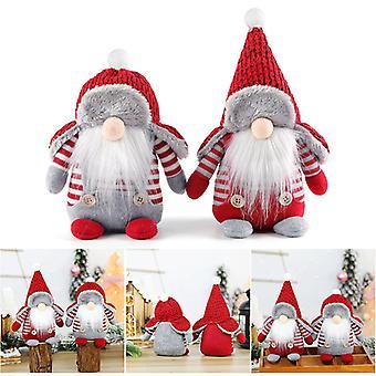 1pcs Christmas Swedish Santa Claus Plush Doll Gnome Xmas Ornament Gift Home