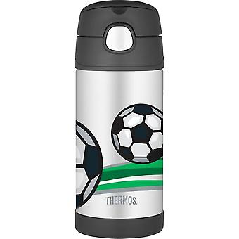 Thermos FUNtainer Straw Stainless steel Hot and Cold Water Drinks Bottle 355ml Football Design