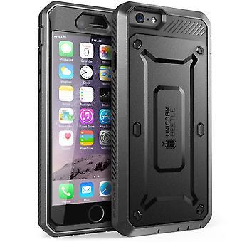 """Apple SUPCASE iPhone 6 y 5.5"""" caja - unicornio escarabajo Pro serie cubierta protectora con pantalla incorporada - negro"""