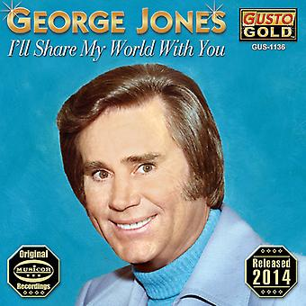 George Jones - mal compartir mi mundo contigo [CD] USA importar