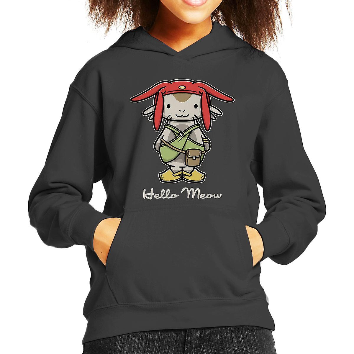 Hello Meow Space Dandy Kitty Kid's Hooded Sweatshirt