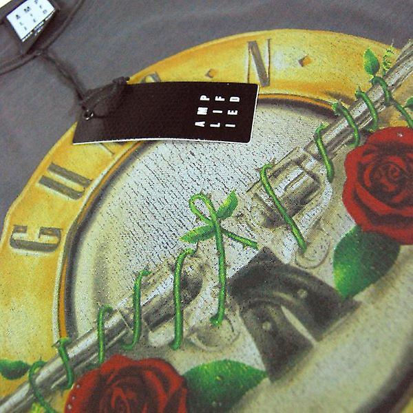Amplifié Mens Vintage Guns N Roses tambour T-shirt, Char Wash