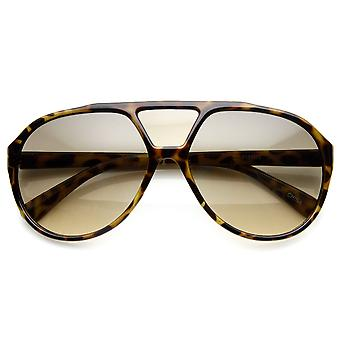 Large Teardrop Bridge Lens Retro Plastic Aviator Sunglasses