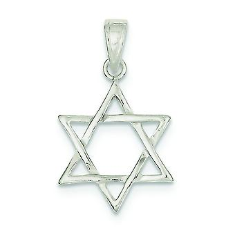 925 Sterling Silver Solid Polished Star Of David Charm Jewelry Gifts for Women - 3.5 Grams