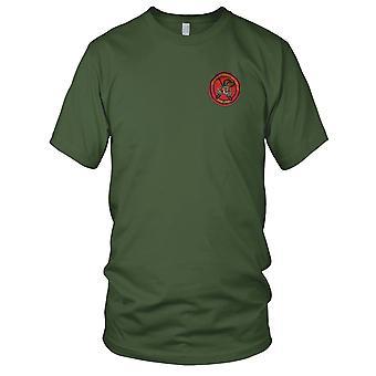 USMC fuzileiros 1º Force Recon Co FMF PAC - Patch Bordado de insígnia militar guerra do Vietnã - Mens T-Shirt