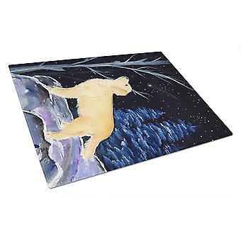 Carolines trésors SS8392LCB nuit étoilée Golden Retriever planche à découper verre