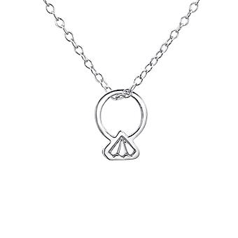 Ring - 925 Sterling Silver Plain Necklaces - W23312X