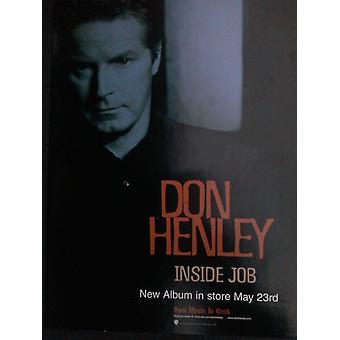 Don Henley Inside Job Poster