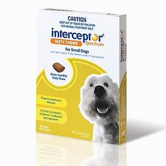 Interceptor Spectrum For Small Dogs 4-11 kg (8.8-24 lbs), 3 Tasty Chews