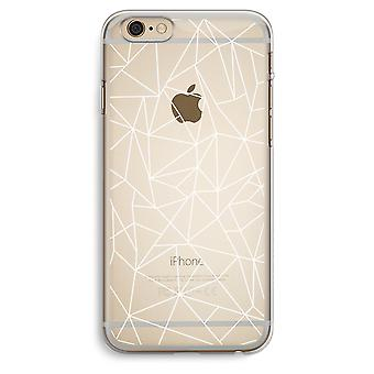 iPhone 6 Plus / 6S Plus Transparent Case (Soft) - Geometric lines white