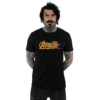 Verwonder u mannen Avengers Infinity War oranje Logo T-Shirt