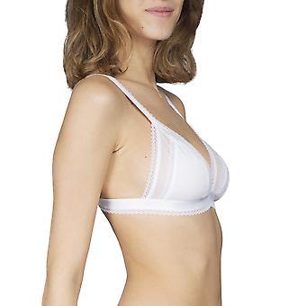Maison Lejaby 17442-03 Damen Cottone-Moi aus weißer Baumwolle nicht gepolstert Non-Wired Triangle BH