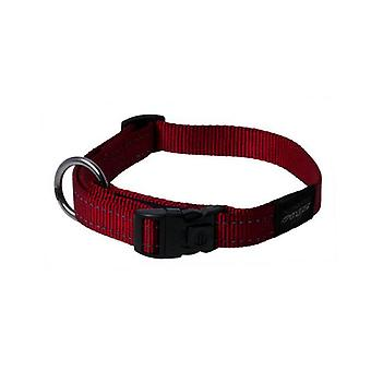 Rogz Utility Bright Reflecterende Duurzame Halsband, Rood