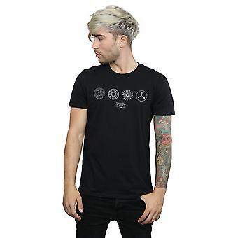 Phantastische Tierwesen Herren kreisförmige Symbole T-Shirt