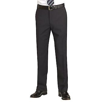 Brook Taverner Avalino Mens Flat Front Trousers / Pants