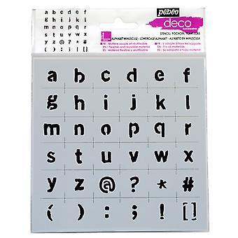 Pebeo Deco Stencil 15 x 15cm - gemener alfabetet
