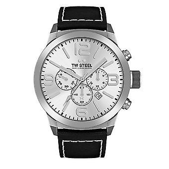 Reloj cronógrafo Marc Coblen edición TWMC35 reloj cuero pulsera TW acero hombres