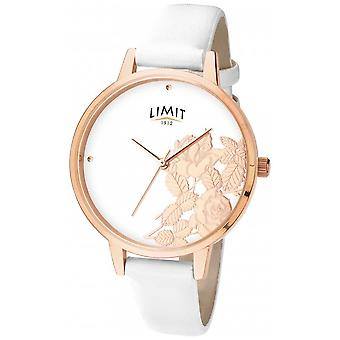 Limit Womens Flat Shine White Floral Dial 6290.73 Watch