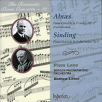 Piers Lane - Aln S: Piano Concerto, Op. 27; Sinding: Piano Concerto, Op. 6 [CD] USA import